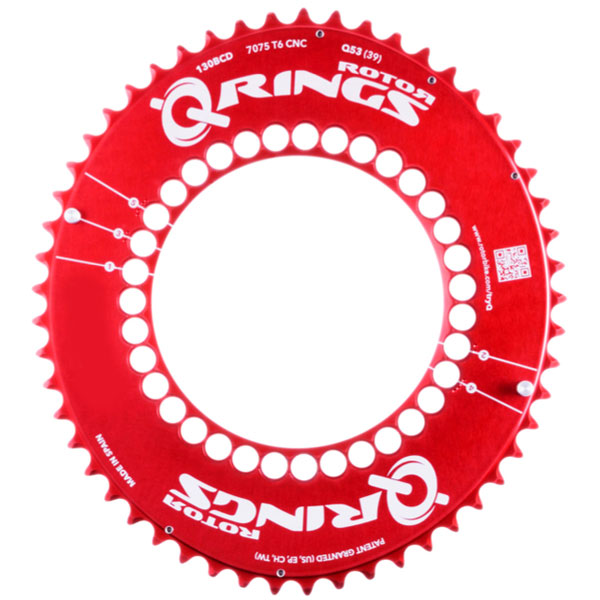 Rotor Red Q-ring Aero Chainrings