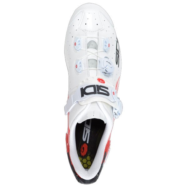 Sidi Wire Vent Carbon Shoes - White/Red